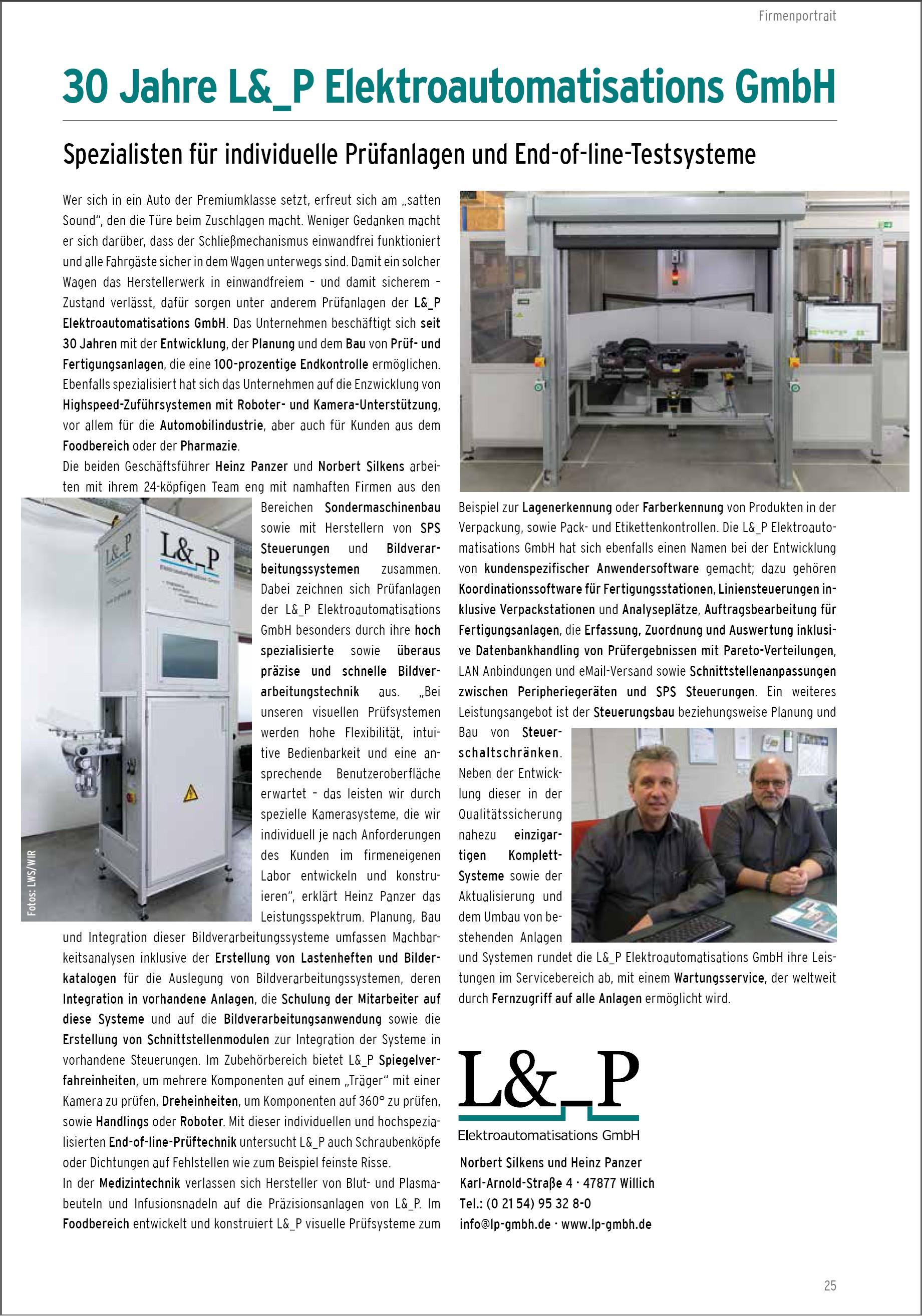 30 Jahre L&_P - Elektroautomations GmbH